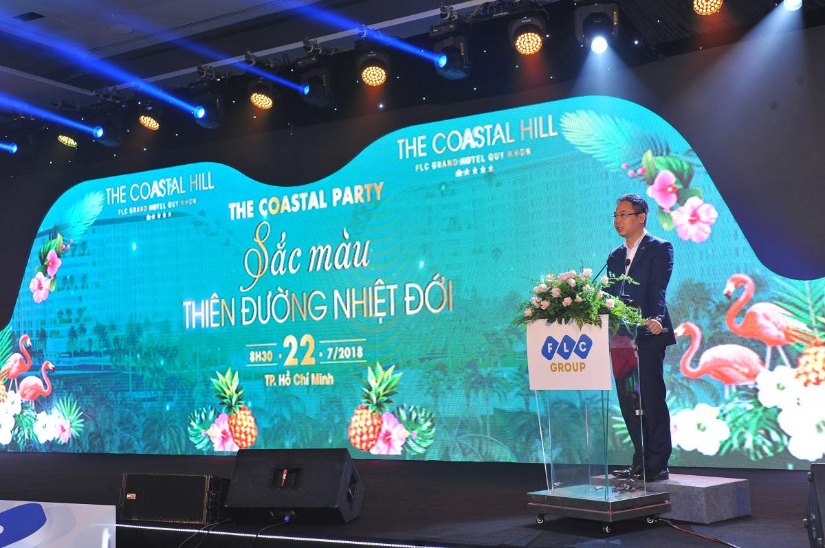 Phó TGĐ Tập đoàn FLC phát biểu tại Lễ mở bán The Coastal Hill & The Coastal Villa tại Tp.HCM