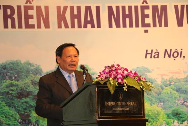 Tổng cục trưởng Tổng cục Du lịch Nguyễn Văn Tuấn phát biểu tại Hội nghị