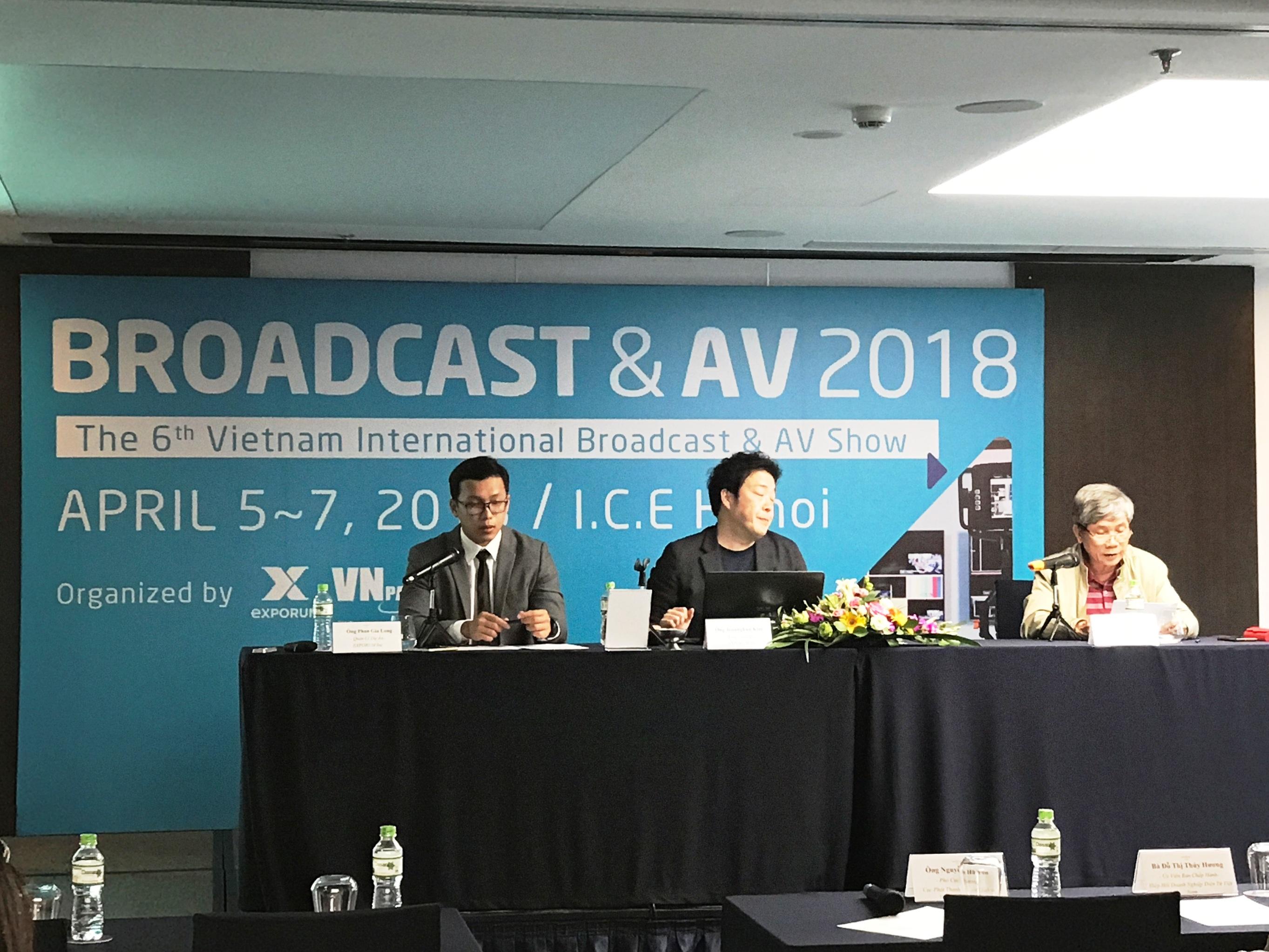 Họp báo giới thiệu về Triển lãm Quốc tế về Phát thanh Truyền hình và Thiết bị Nghe nhìn 2018 (VIBA Show 2018).