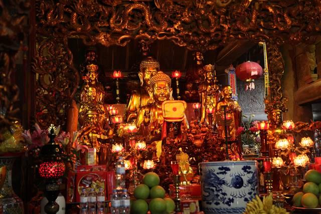 Chùa Thái Lạc thờ Phật và thần Pháp Vân