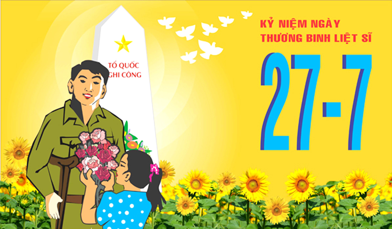 Tranh cổ động ngày Thương binh liệt sĩ 27/7 (ảnh: minh họa)